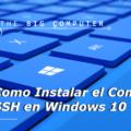 Como instalar SSH en CMD, Powershell de Windows 10